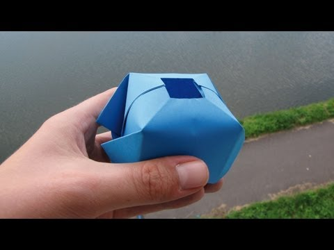How to make a paper water bomb - Fun origami !