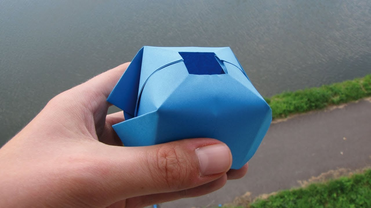 How to make a paper water bomb fun origami youtube - Truc a faire avec du papier ...