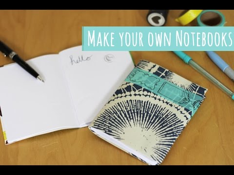 Back to school tutorial, Make your own notebook