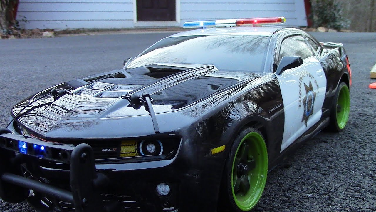 RCTogether Vaterra 2012 CHP Camaro ZL1 DRIFT COP YouTube