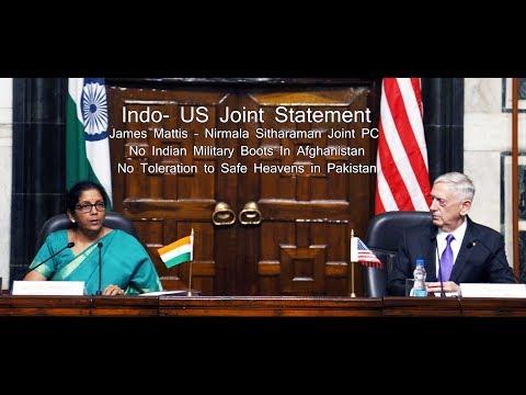 Pakistan Will Cry After Watching James Mattis - Nirmala Sitharaman  Joint Indo - US Press Statement