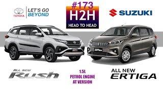 H2H #173 Toyota ALL NEW RUSH vs Suzuki ALL NEW ERTIGA