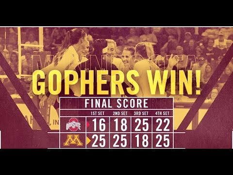 Highlights: Gopher Volleyball Defeats No. 17 Ohio State 3-1