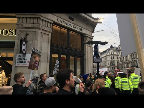 Canada Goose London Protest