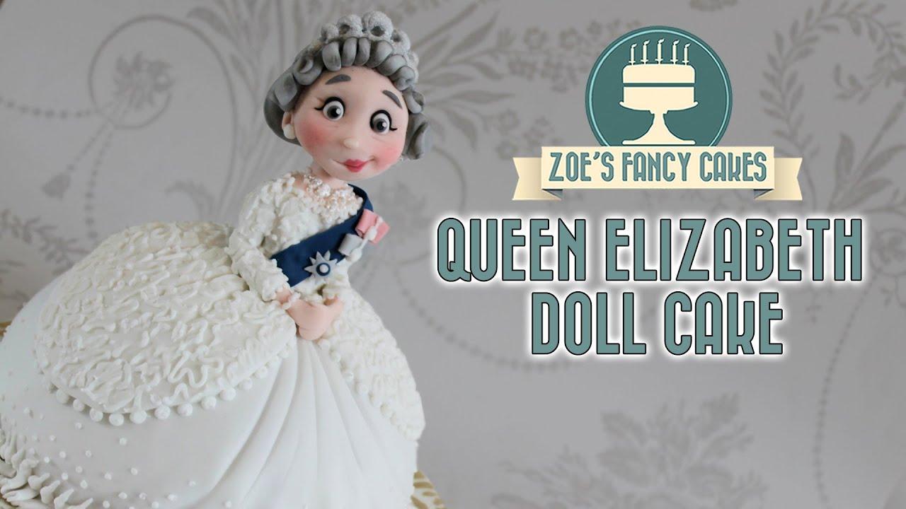 Queen Elizabeth Doll Cake British Queens 90th Birthday Celebration