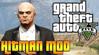 GTA V PC MOD: AGENT 47 HITMAN!