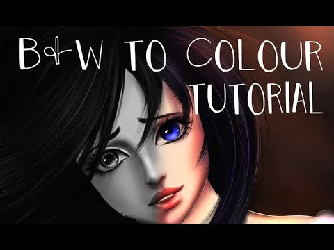 Grayscale Coloring Method - Tutorial - Drawing ciel as a girl in