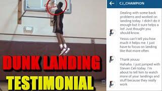 CJ Champion 5O INCH VERTICAL + safe landings! (Testimonial) Video