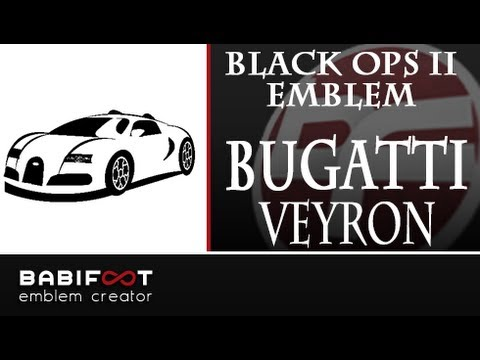 cod black ops 2 emblem tutorial bugatti veyron youtube