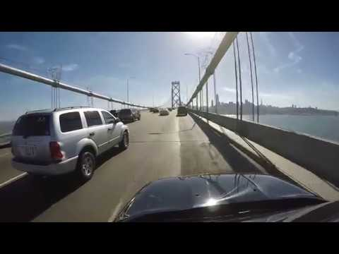 Drive From Treasure Island To San Francisco Across The Bay Bridge