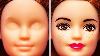 LIFE OF AN OLD BARBIE DOLL || 32 TOY HACKS