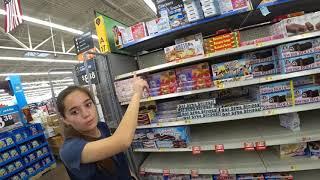 August 9, 2019/647 Grocery shopping at Walmart. Pryor, Oklahoma