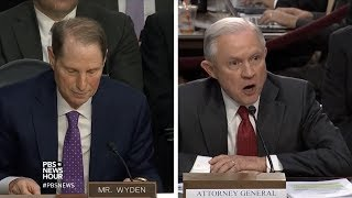 Sessions gets in a heated argument with Sen. Wyden Free HD Video
