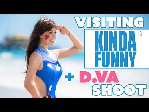 Visiting Kinda Funny + D.Va Swimsuit Shoot - Meg Turney
