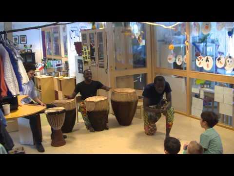 Drum & Dance show in a kindergarten in Trondheim, Norway