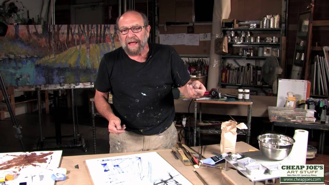 Charlotte On The Cheap >> Andy Braitman Encaustics Painting Part 1 - YouTube