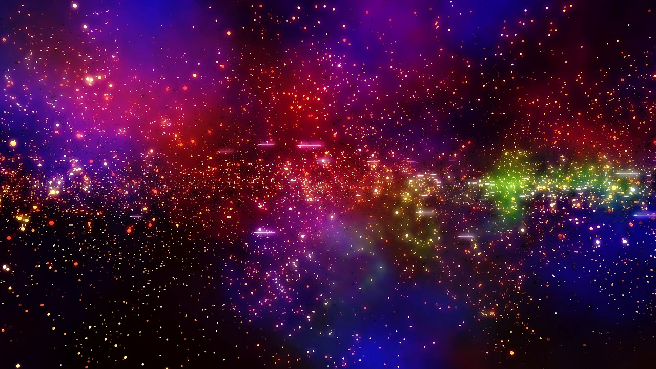 4K Relaxing Space Background - Particle Nebula Glow #AAVFX Live Wallpaper - YouTube