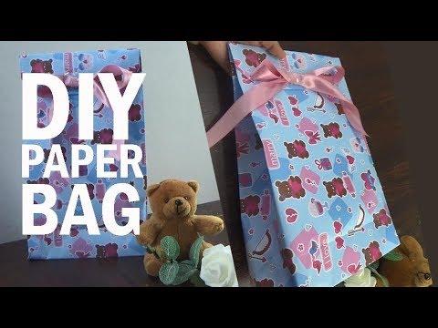 Cara Membungkus Kado Paper Bag.