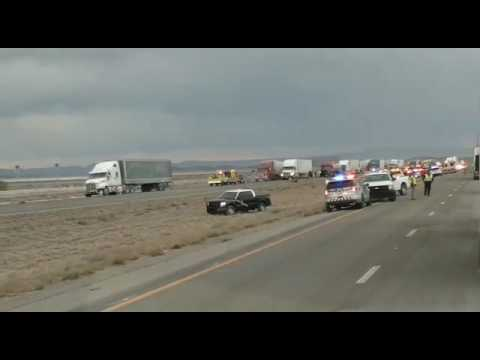 I-10 east lorsburg new Mexico accident was about sand Storm