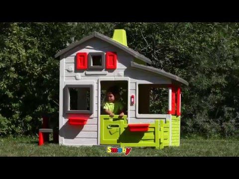 smoby lekstuga friends house youtube. Black Bedroom Furniture Sets. Home Design Ideas