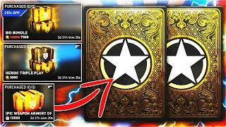 EVERYTHING UNLOCKED! x50 BIG BUNDLE & x7 EPIC/HEROIC WEAPON BRIBE HEROIC SUPPLY DROP OPENING COD WW2
