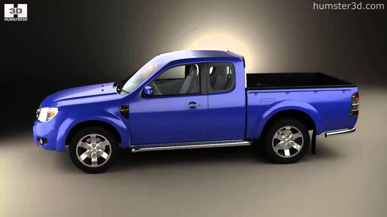 ford ranger extended cab 2009 by 3d model store humster3d. Black Bedroom Furniture Sets. Home Design Ideas