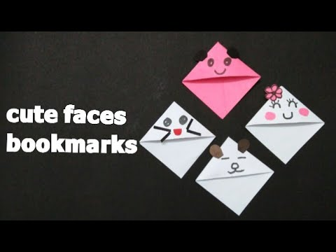 Cute faces bookmarks, paper art, looking attractive  (mrin art)