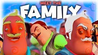 MEET HIS CRAZY FAMILY! | Hello Neighbor CUSTOM MAP/MOD | Lets Play/Gameplay ModKit Secrets!