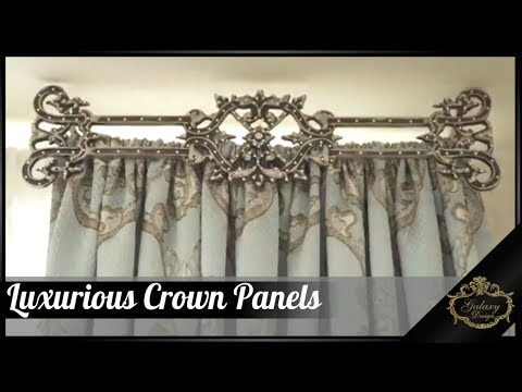 Luxurious Drapery Crown Panels | Galaxy Design Video #158