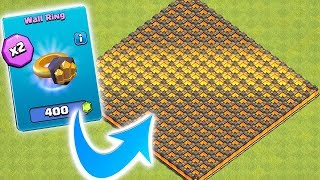 HOW MANY RINGS TO UPGRADE ALL 300!?! | Clash of clans | New update!