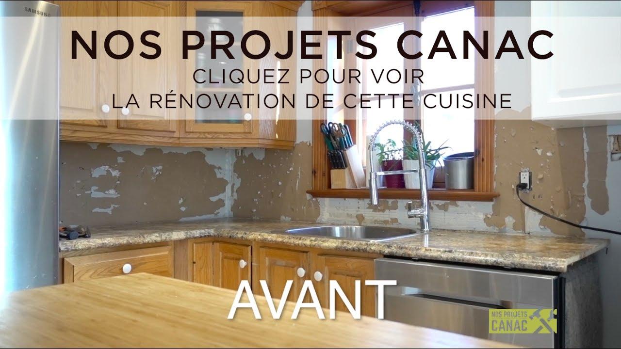 Comment Installer Un Comptoir De Cuisine nos projets canac - rénovation cuisine - installation d'un nouveau comptoir
