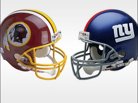 Image result for Washington Redskins vs. New York Giants