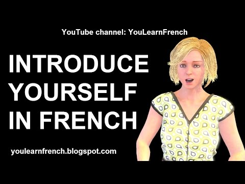 French Lesson 203  How to INTRODUCE YOURSELF in French Je mappelle Comment tappellestu