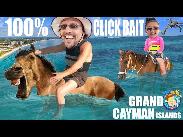 EASTER in GRAND CAYMAN ISLANDS! (FV Family did not ride Swimming Horses) 100% Clickbait