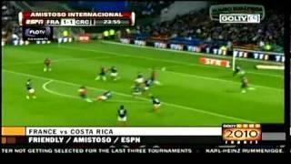 Francia 2-1 Costa rica Amistos previo al mundial 05 26 2010