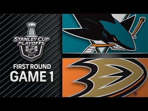 San Jose Sharks vs Anaheim Ducks – Apr. 12, 2018 | Game 1 | Stanley Cup 2018. Обзор