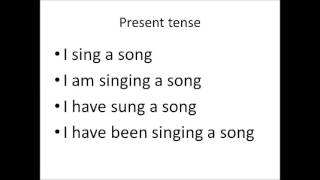 learning 16 tenses via singing a song along with song lyrics