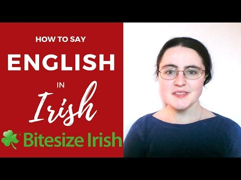 How To Say English In Irish
