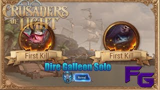 Crusaders Of Light- Dire Galleon Solo (Normal)