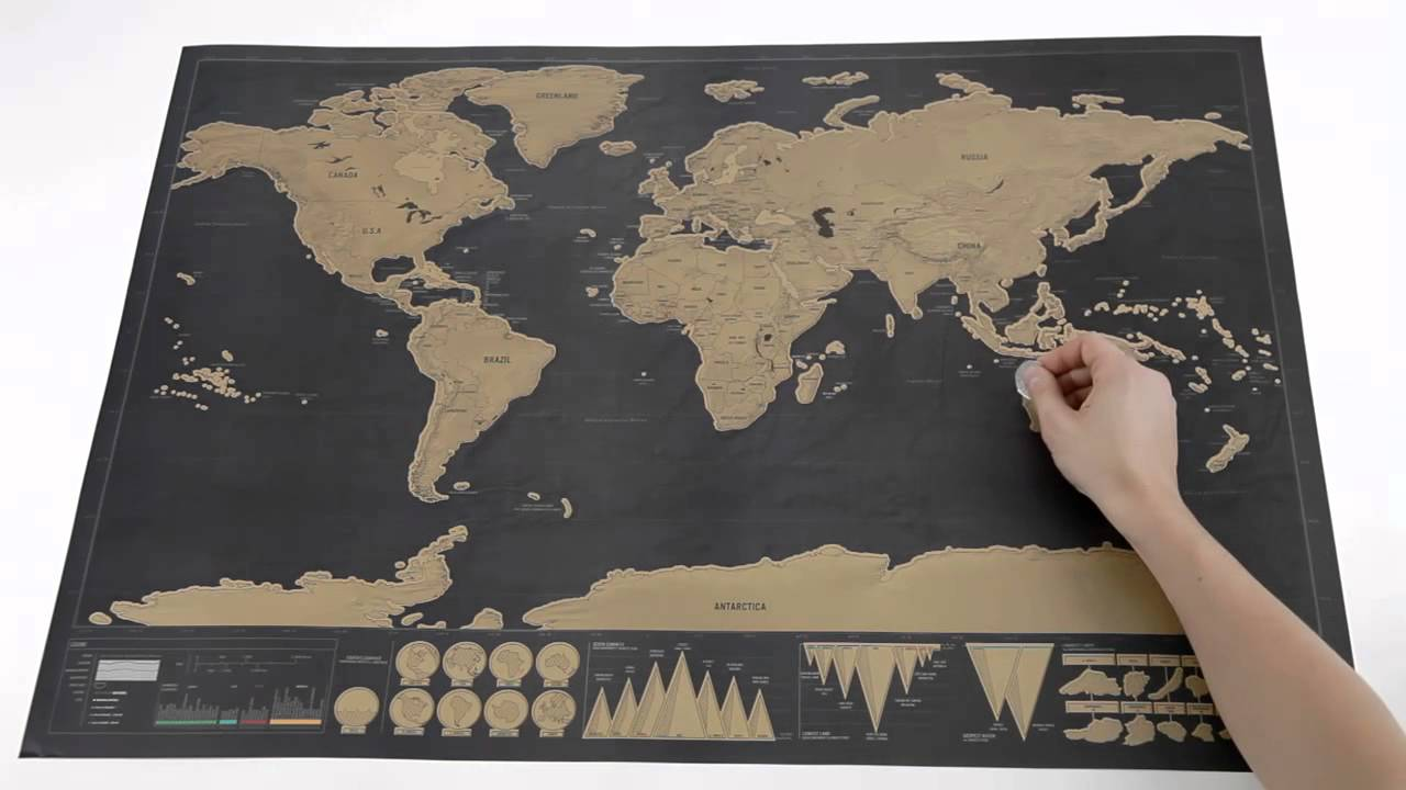 Scratch Map Deluxe from Luckies YouTube – Scratch Travel Map Of The World