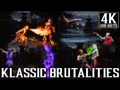 Mortal Kombat 11 Ultimate - All Klassic Brutalities - 4K HDR (60fps) |