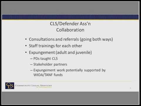 Partnerships in Federal Funding: Case Studies in Defender/Civil Program Collaboration