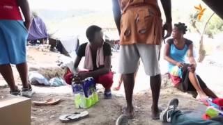 برخورد میان پناهجویان و آتش سوزی در یک کمپ در یونان