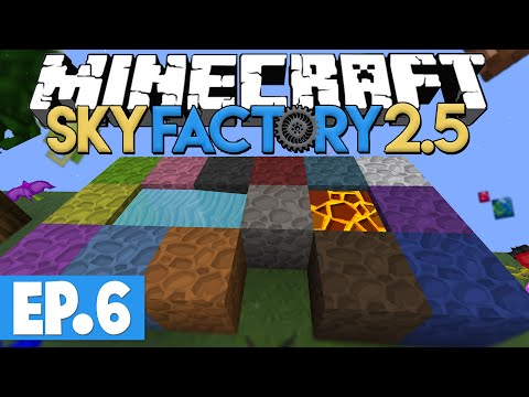 Minecraft Sky Factory 2.5 - CHISEL UPGRADES & AUTO COBBLE GENERATION! #6 [Modded Skyblock]