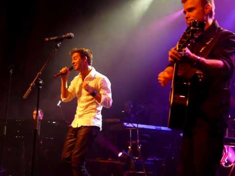 A1 doing a christmas medley at their Reunion concert in Oslo, Norway