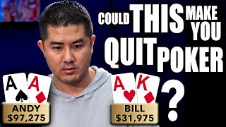 Could THIS Make You QUIT POKER??? ♠ Live at the Bike!