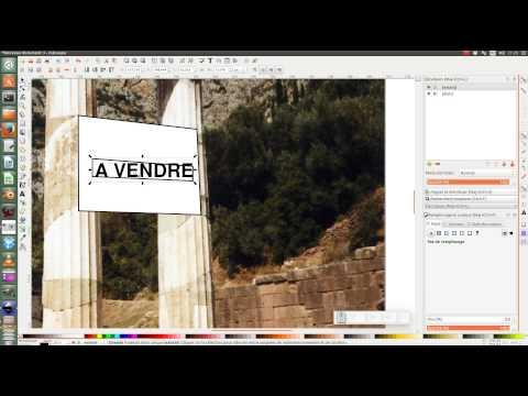 Tuto inkscape : Texte en perspective dans une photo