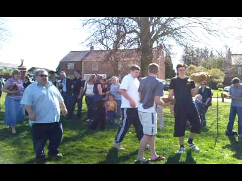 Dufton easter chicken race