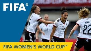 HIGHLIGHTS: Germany v. Côte d'Ivoire - FIFA Women's World Cup 2015(Canada 2015: The rampant Germans scored an outrageous 10 goals against the Ivorians. Women's World Cup Canada 2015 MATCH HIGHLIGHTS: ..., 2015-06-07T22:26:20.000Z)