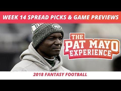 2018 Fantasy Football — Week 14 Spread Picks, NFL Game Previews & Gentle Aqua Fit